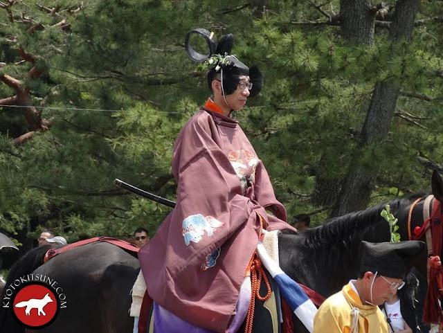 Messager avec son katana lors de la fête de Aoi matsuri à Kyoto