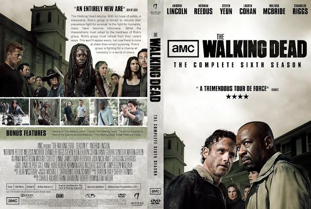 Capa DVD The Walking Dead Sexta Temporada Completa