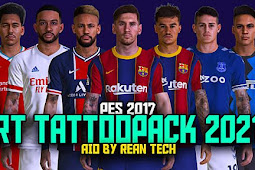 New RT Tattoo 2021 AIO (1000+ Tattoo)  PES 2017