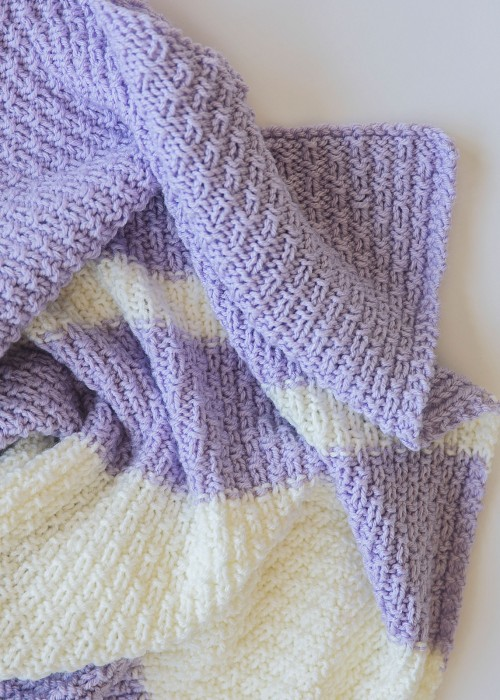 Easy Knit Baby Blanket - Free Pattern