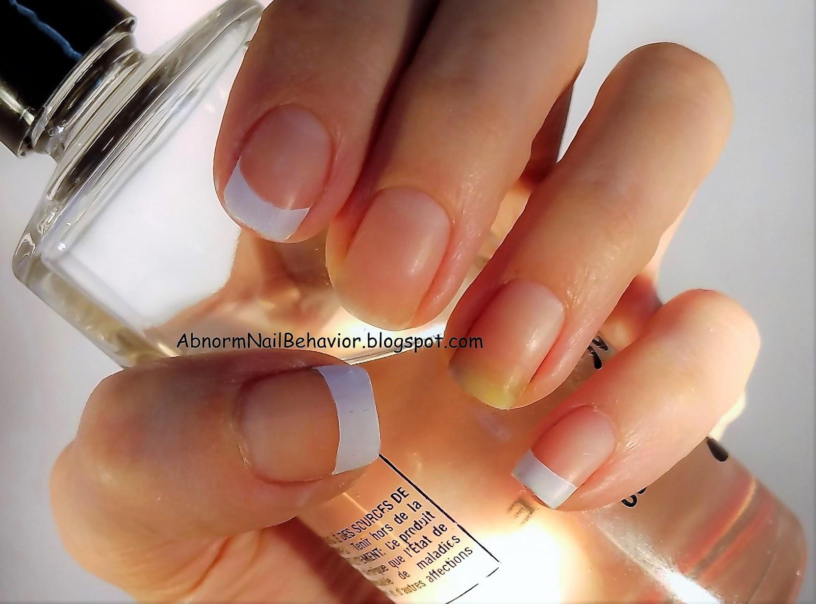 Abnorm Nail Behavior | Nail Art : Monarch Half French Nails
