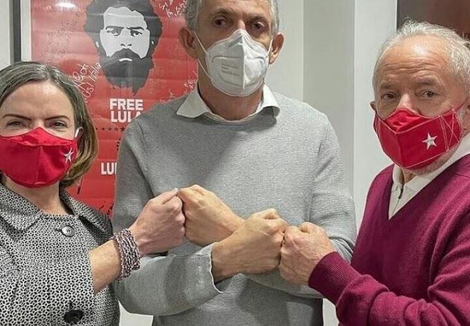 Encontro de RC com Lula e Gleisi reforça tese de filiação do socialista ao Partido dos Trabalhadores
