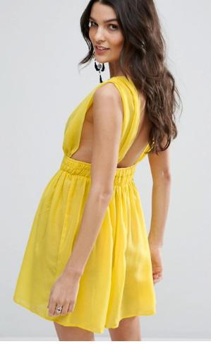 Vestido corte imperio amarillo