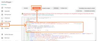 cara menambahkan kode html analitics ke tema blog anda
