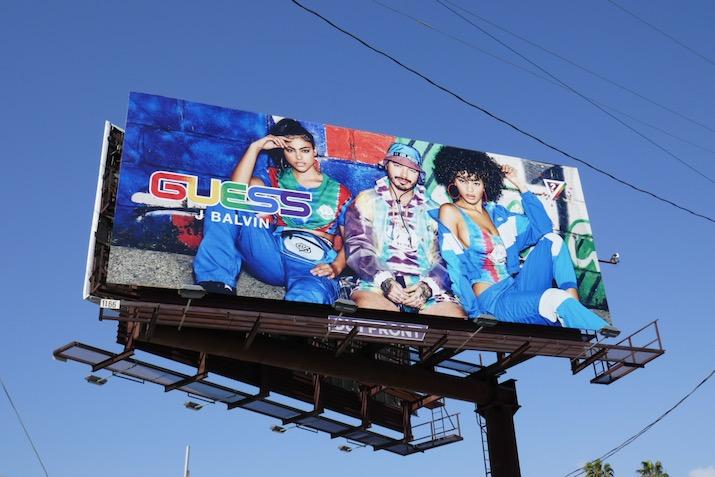 Guess J Balvin SS20 billboard