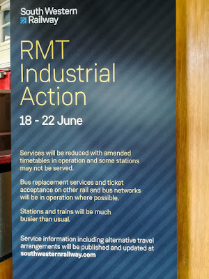 Photo of strike action poster at Basingstoke