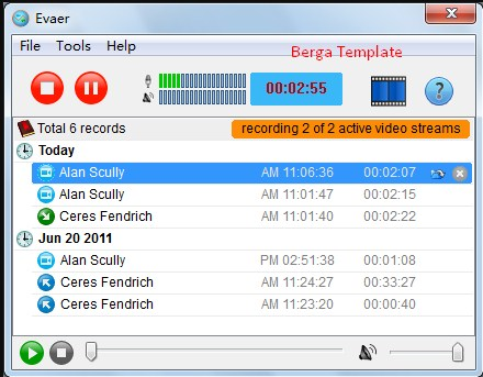 Download Evaer Video Recorder For Skype 1.7.2.39 final [latest Berga]