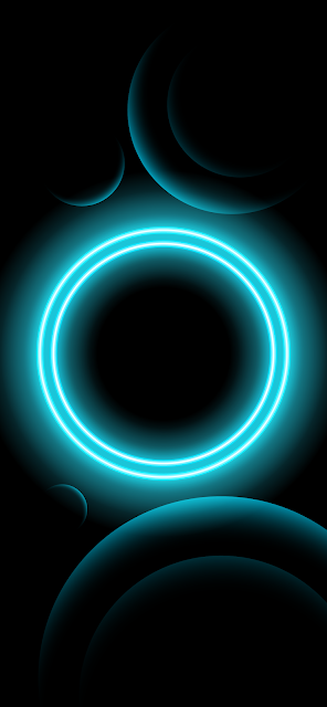 BLACK HD WALLPAPER FOR PHONE - BLUE NEON