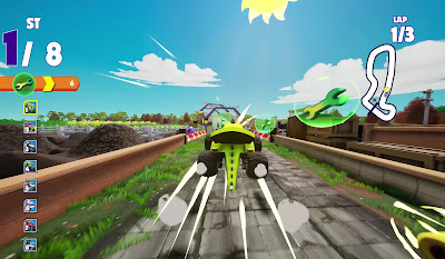 Blaze And The Monster Machines Axle City Racers Game Screenshot 6