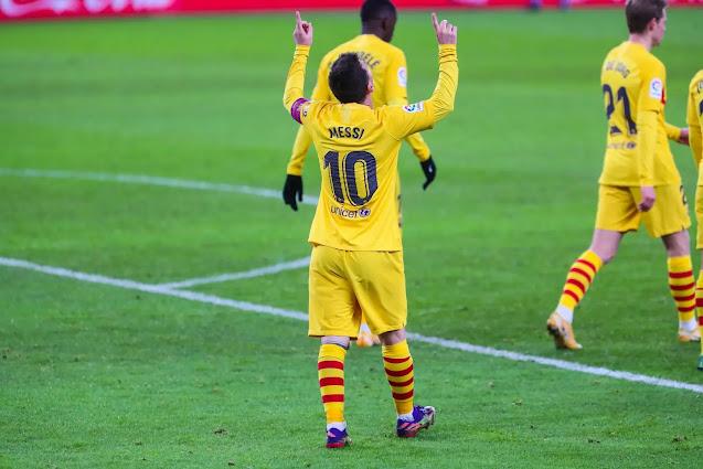 ميسي يقود برشلونة إلى انتصار على أتلتيك بيلباو و يصعد إلى المركز الثالث