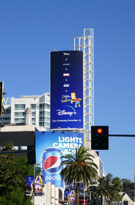 Disney+ launch Simpsons billboard