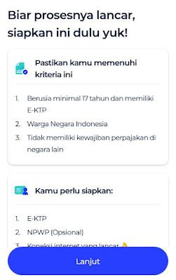 download aplikasi blu dan siapkan datanya