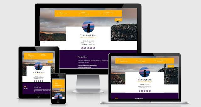 landing-profile-blogger-template