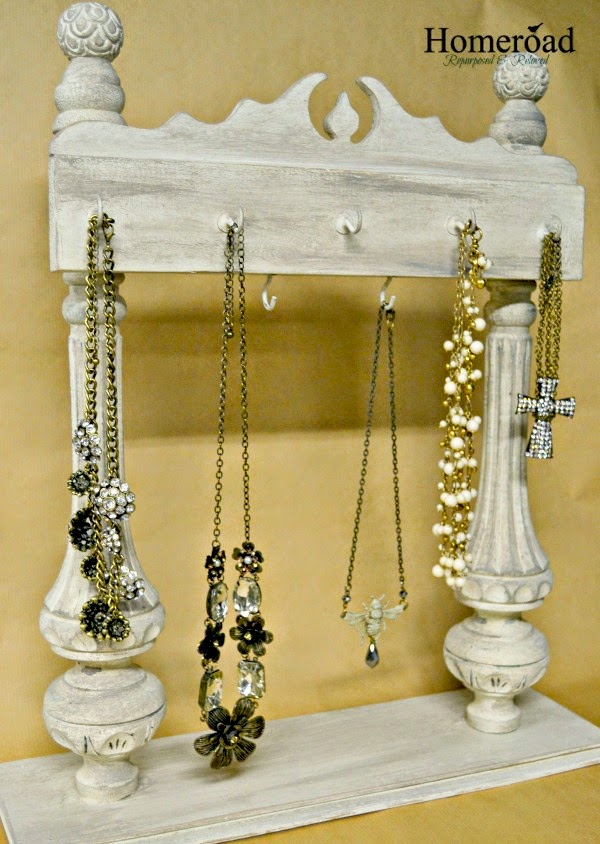 Repurposed Jewelry Display and MudPaint www.homeroad.net