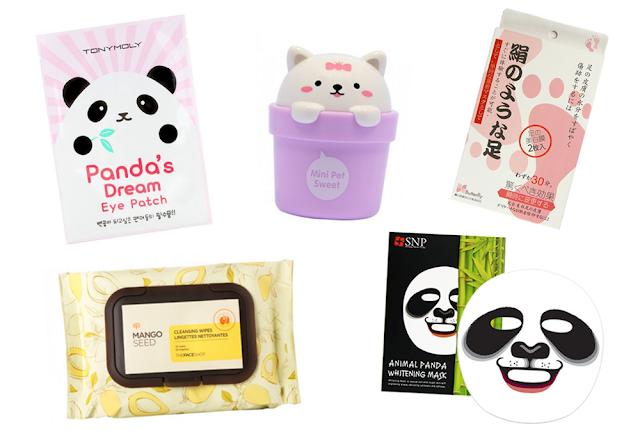 Cosmétiques soins asiatiques coréens japonais cutes kawaii