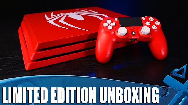 شاهد بالفيديو عملية فتح النسخ الخاصة من أجهزة PS4 و PS4 Pro للعبة Spider-Man ، تصميم رائع ..