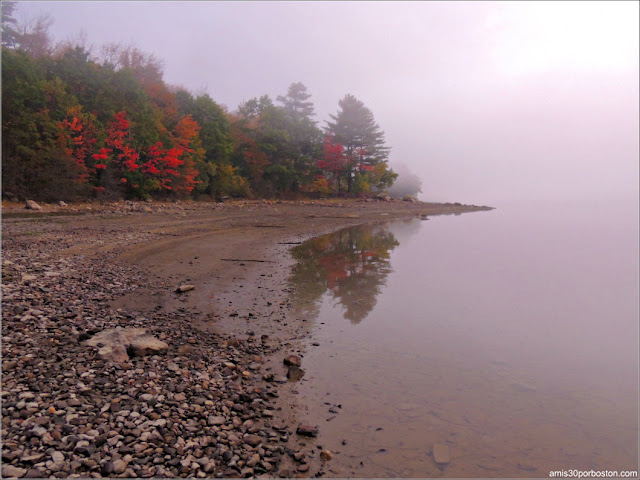 Niebla en el Lago Graham en Maine