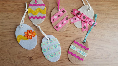 Felt and ribbon Easter egg ornaments
