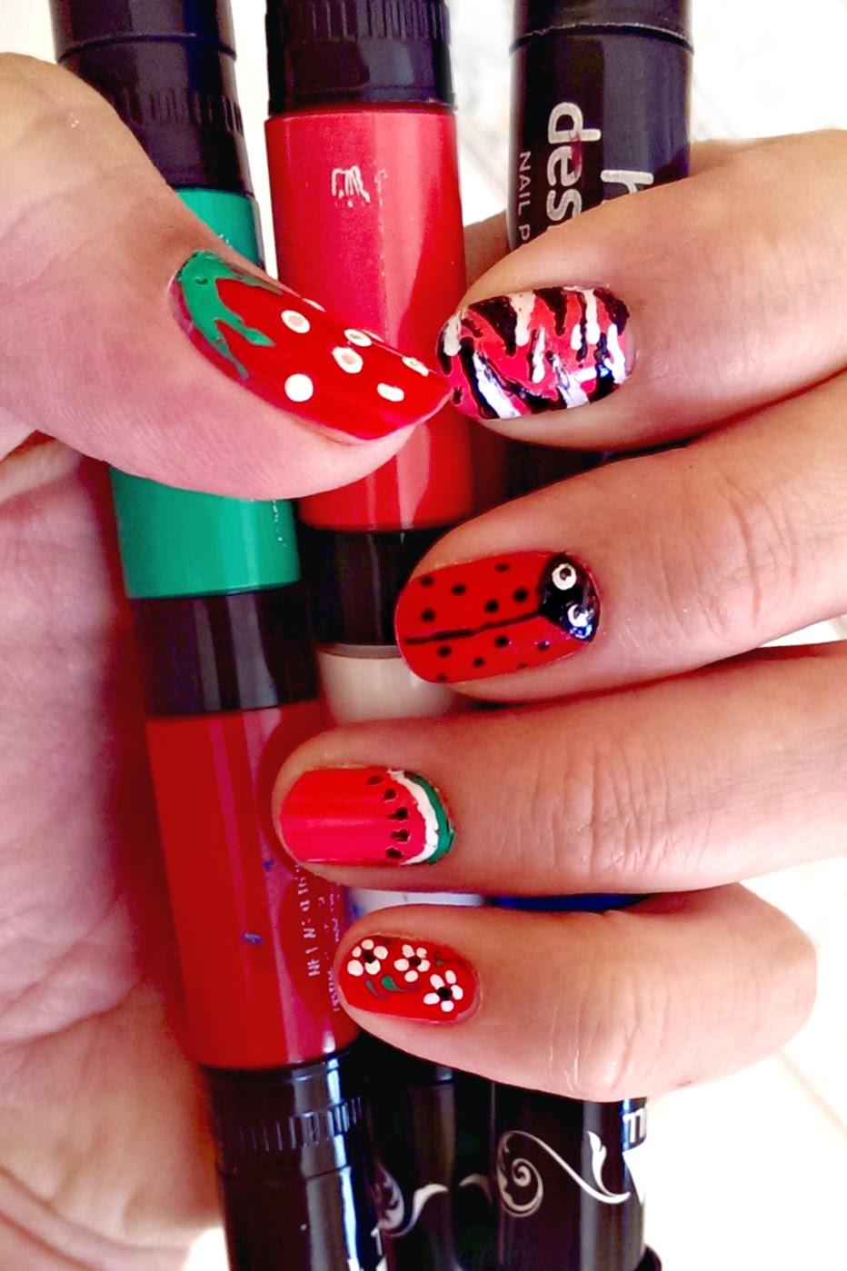 Lovely Hot Designs Nail Art Ideas