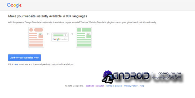 how to add google translate to website