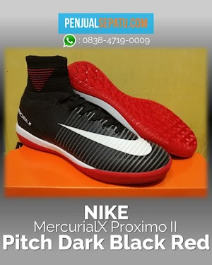 Futsal Nike MercurialX Proximo II Pitch Dark Black Red