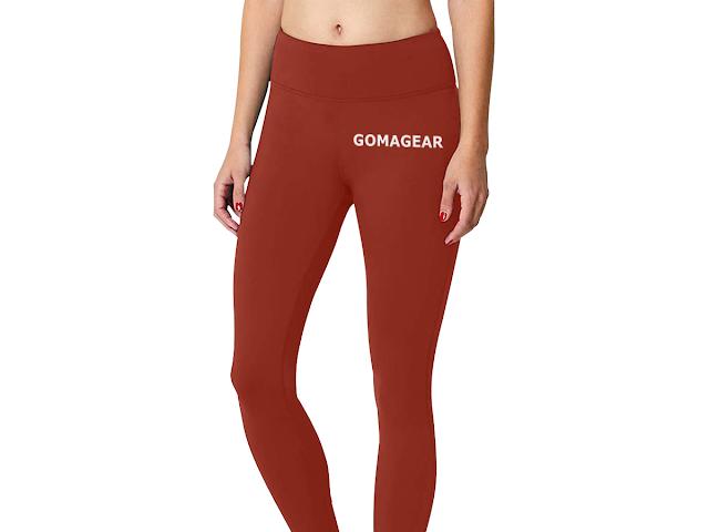 GOMAGEAR FLEX WORKOUT LEGGINGS - DARK RED