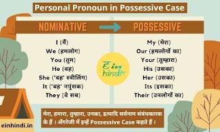 Personal-Pronoun-in-Possessive-Case-Rules-Translation-Hindi-English