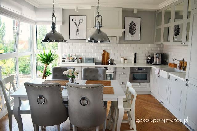 kuchnia, kitchen, biała kuchnia, szara kuchnia, modern classic, hamptons