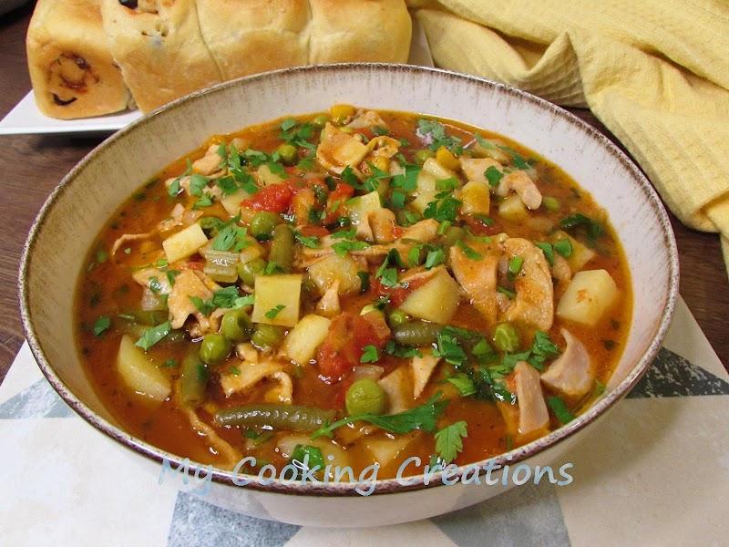 Зеленчукова супа с шкембе от Бреша * Trippa Verticale alla Bresciana