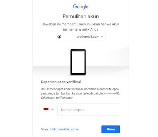 ganti password gmail yang lupa