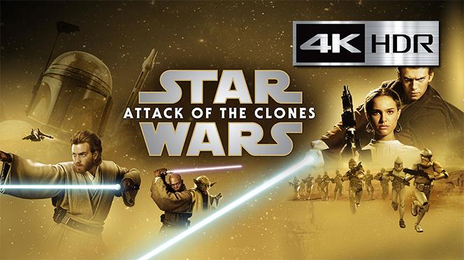 Star Wars Episodio II – El Ataque de los Clones (2002) WebRip 4K UHD [HDR] Latino-Castellano-Ingles