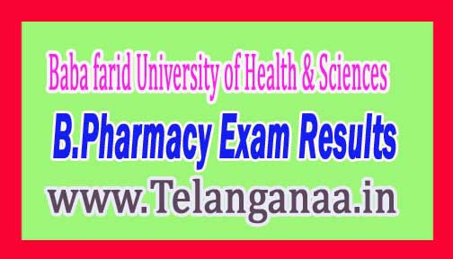 BFUHS B.Pharmacy Ist Year 2016 Exam Results Baba farid University of Health and Sciences Exam Results