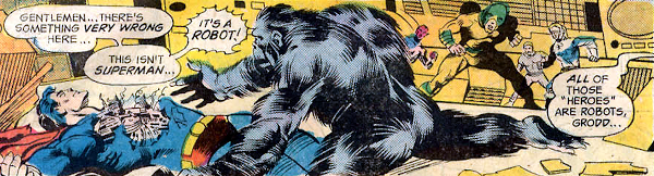 The Secret Society of Super-Villains #1, the robot JLA and Grodd