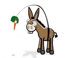 o burro e a cenoura
