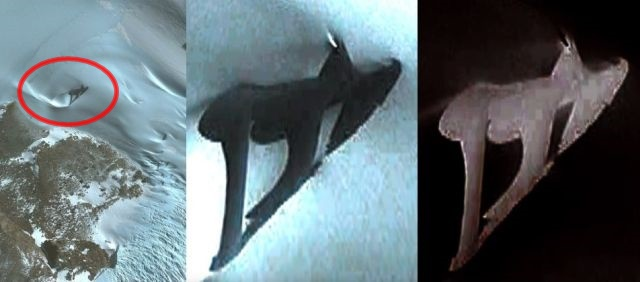 Something really weird shows up on Google Earth in Antarctica  Antarctica-an%2Bomaly-ufo-Pterodactyl