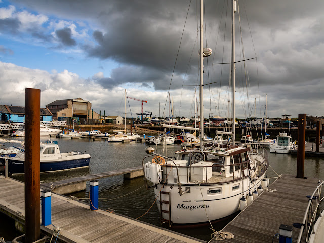 Photo of storm clouds over Maryport Marina yesterday (Thursday) afternoon