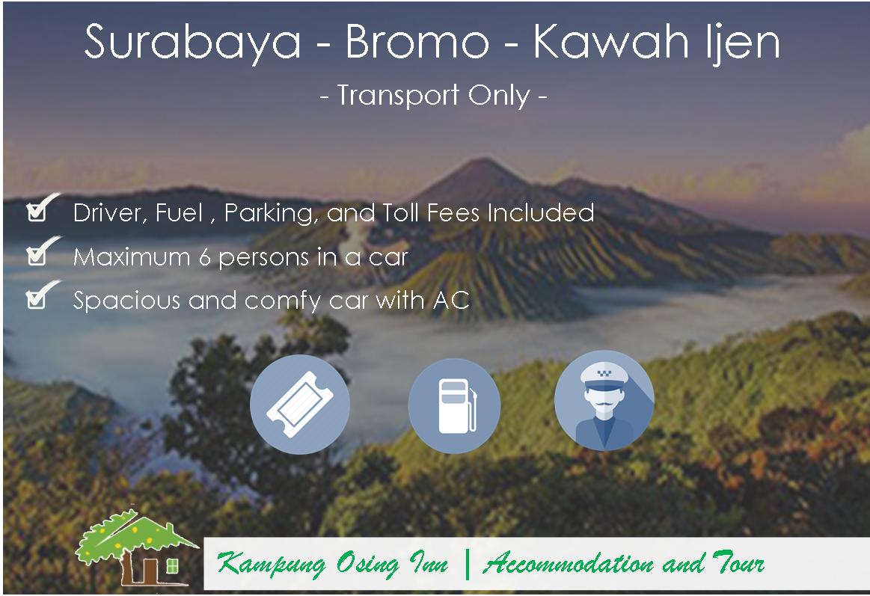 Surabaya Mt Bromo Kawah Ijen Transport Package Only Midnight Madakaripura