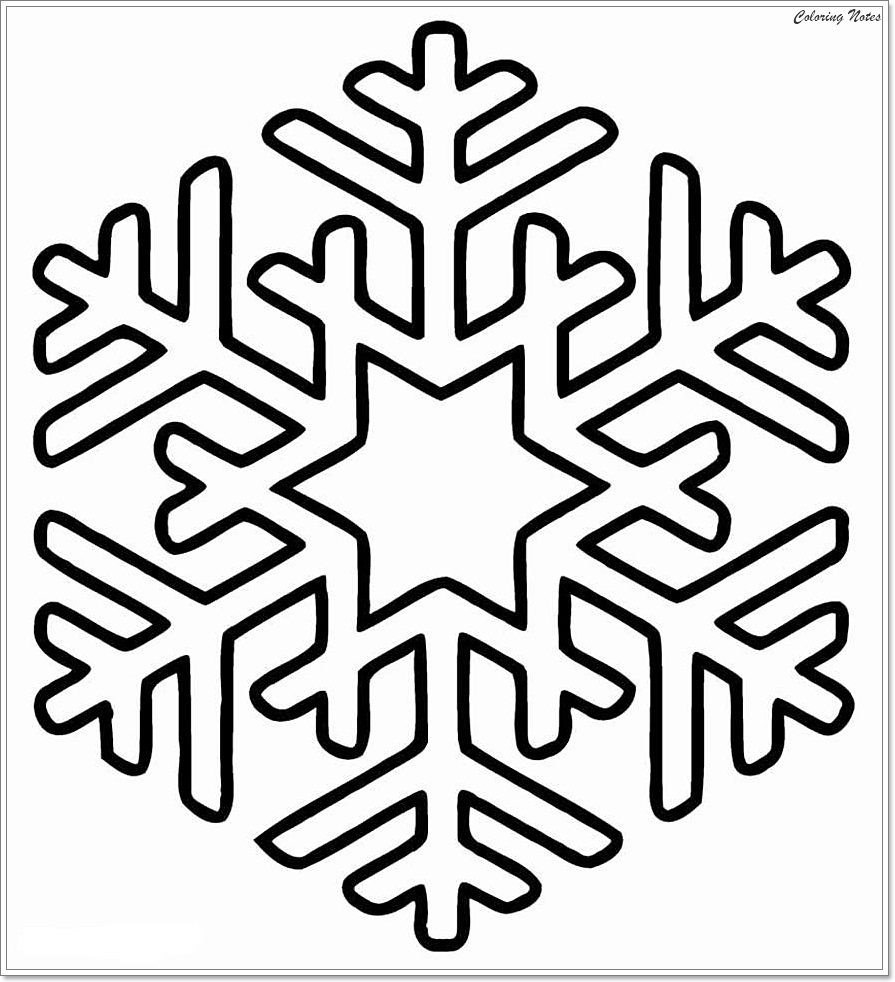 Top 25 Winter Snowflake Coloring Pages Easy, Free and ...