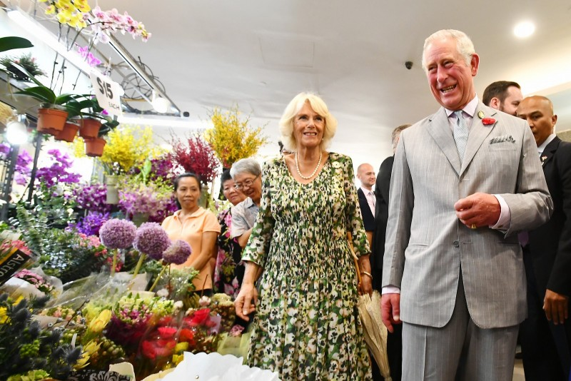 Britain's Prince Charles, Prince of Wales and Camilla, Duchess of Cornwall visited Tiong Bahru estate.