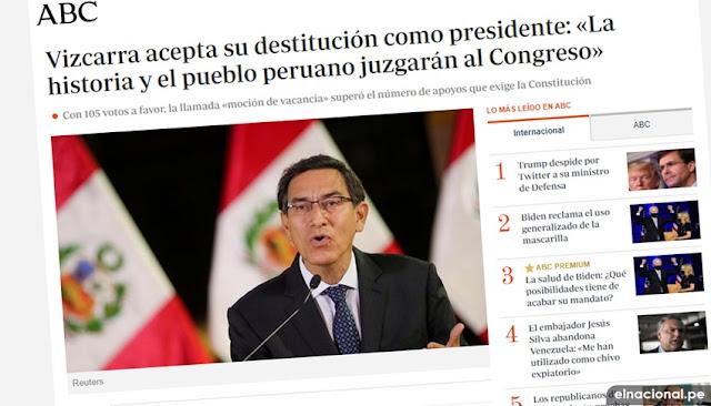 ABC vacancia Martín Vizcarra