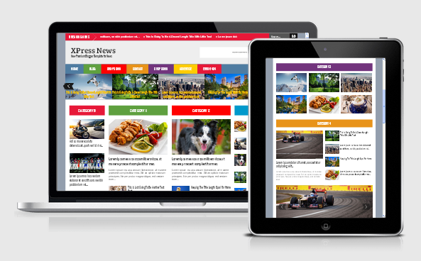 XPress News Responsive Blogger Template Free Download