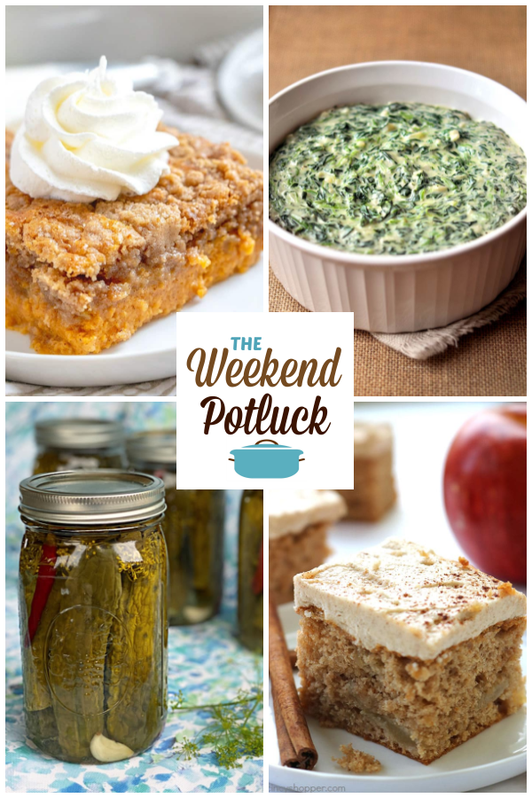 A virtual recipe swap with Pumpkin Dump Cake, Easy Homemade Creamed Spinach, Pop's Spicy Garlic Dill Pickles, 3-Ingredient Apple Cake and dozens more!