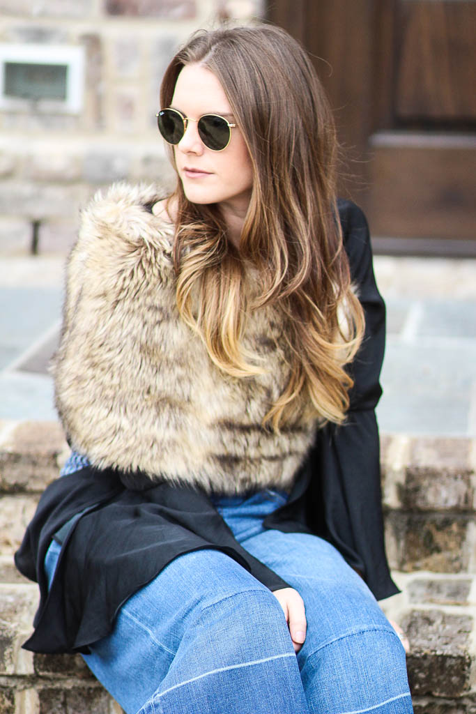 Styling a faux fur scarf