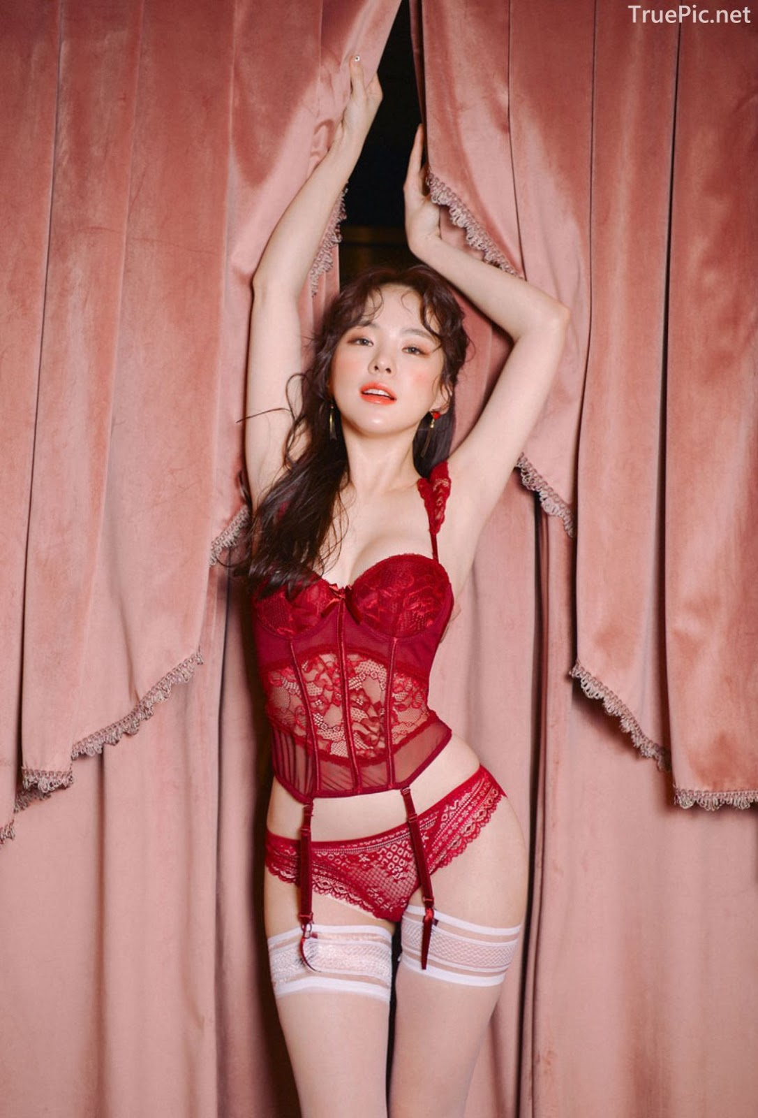 Korean lingerie queen Haneul - Valentine Sexy Lingerie Set - TruePic.net - Picture 4