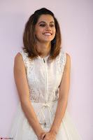 Taapsee Pannu in cream Sleeveless Kurti and Leggings at interview about Anando hma ~  Exclusive Celebrities Galleries 068.JPG