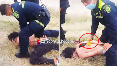 "VIDEO: Policía estrenó uniformes ""torturando"" con choques eléctricos a joven"