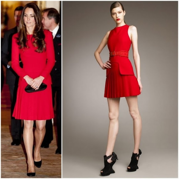 Catherine,Duchess of Cambridge - Alexander McQueen dress