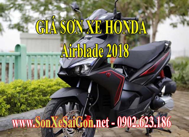 Bảng giá sơn xe máy Honda Airblade 2018