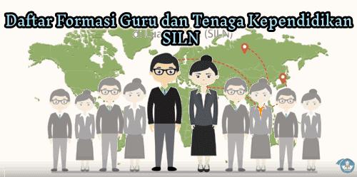 Daftar Formasi Guru dan Tenaga Kependidikan SILN Tahun 2019
