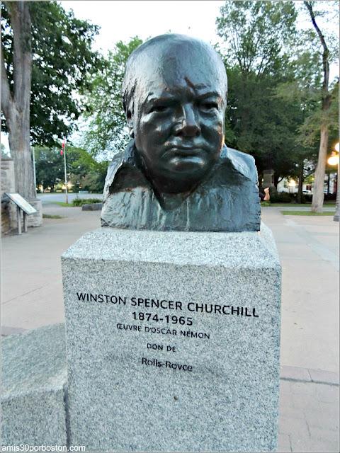 Busto de Churchill en la Ciudad de Quebec